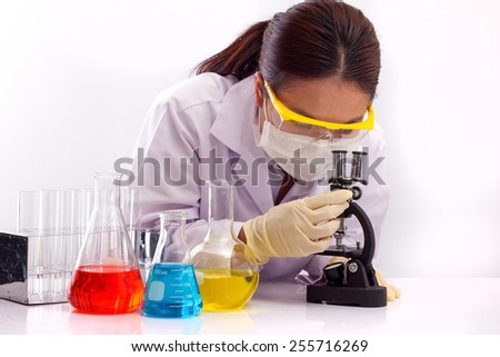 Women are working in research laboratories.