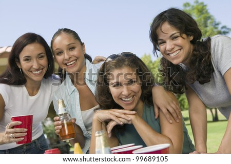 Women at a Picnic - stock photo