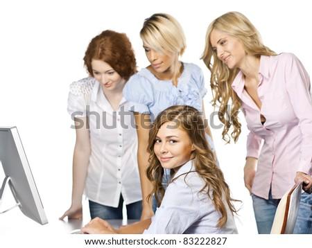 Women at office - stock photo