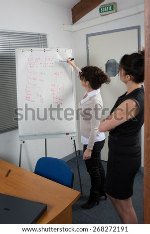 Women at Office Showing project - stock photo