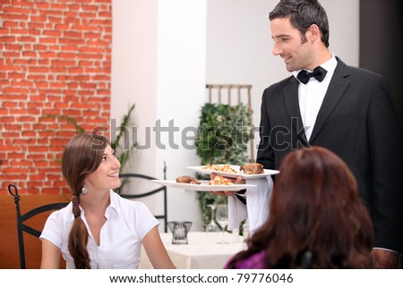 women at restaurant