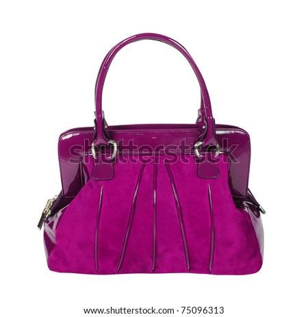 women bag isolated with clipping paths - stock photo