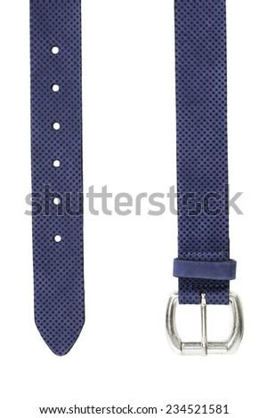 women blue belt - stock photo