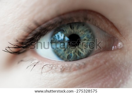 women blue eye - stock photo
