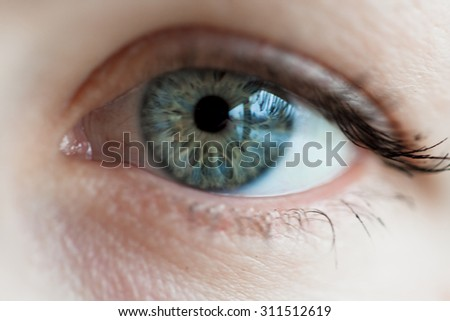 women blue eye