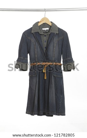 women coat on hanger isolated