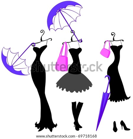 women dresses and accessories - stock photo
