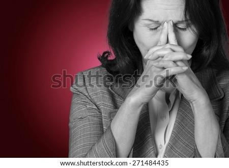 Women, Emotional Stress, Depression. - stock photo