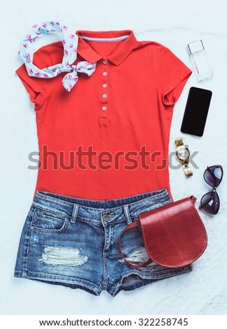 Women fashion clothes - stock photo