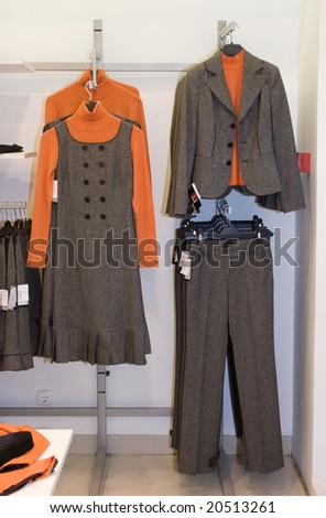 women fashion dress store - stock photo