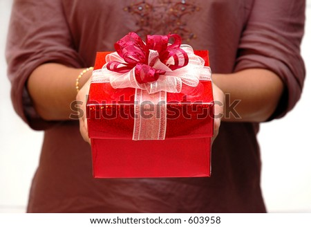 Women give a present