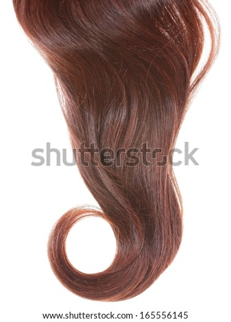 Women hair curl on a white background.