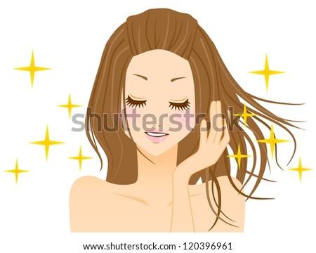 Women haircare - stock photo