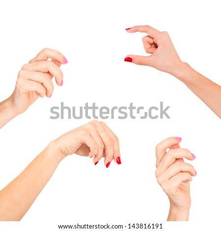 Women hand - stock photo