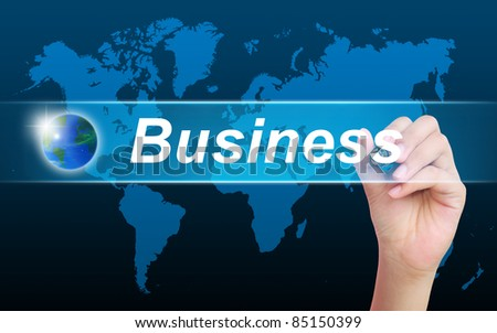 women hand writing business - stock photo