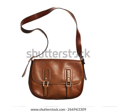 women handbag isolated over white  - stock photo