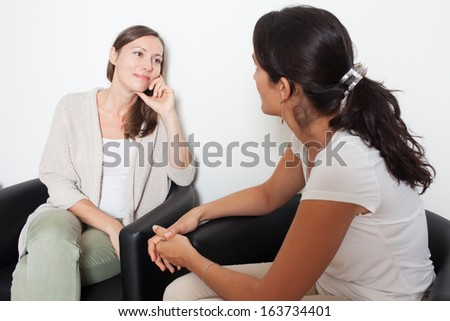 women having fun talking - stock photo