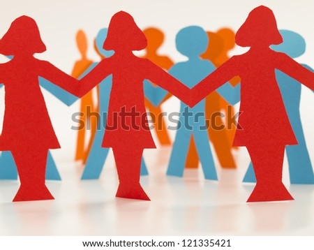 women in business, ladies first, - stock photo