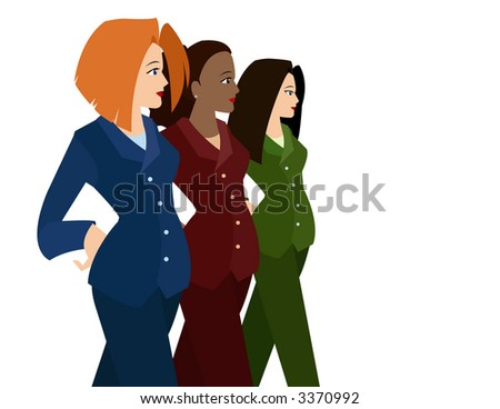 Women in Business Suits (Diversity) - stock photo