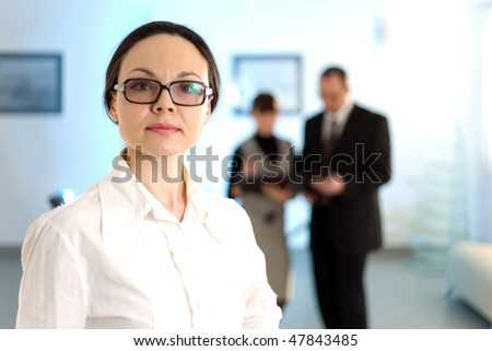 Women in glasses - stock photo