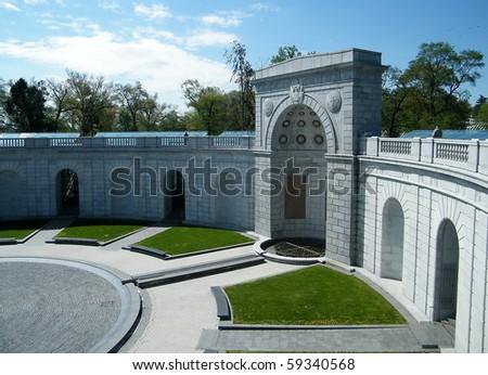 Women in Military Service Memorial in Arlington National Cemetery, Arlington Virginia USA - stock photo