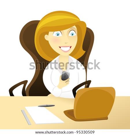 women in office. - stock photo