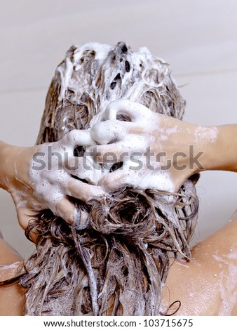 Women in Shower - stock photo