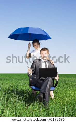 Women in the field, giving you the best protection, everywhere - stock photo