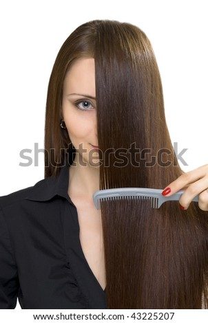 women isolated on white - stock photo