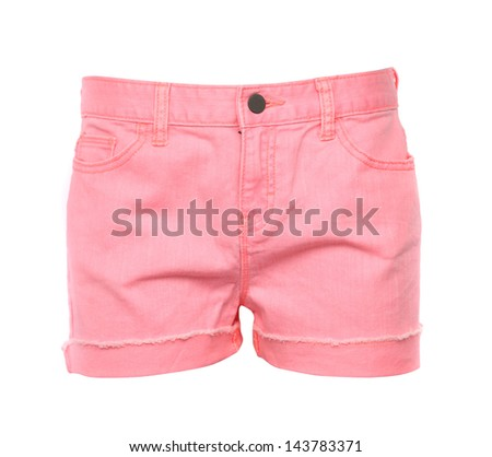 women jeans shorts. Front. - stock photo