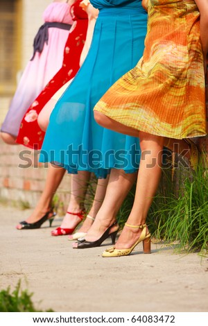 women legs - stock photo