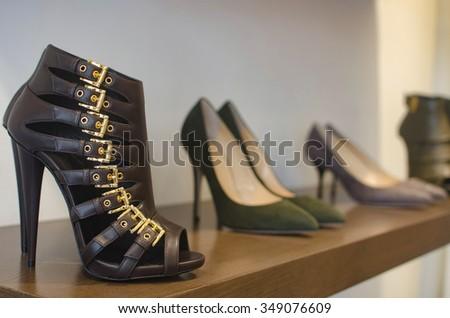 Women luxury shoes - stock photo