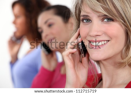 Women on the phone - stock photo