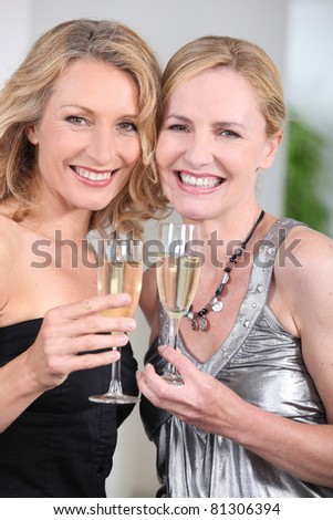 women partying - stock photo