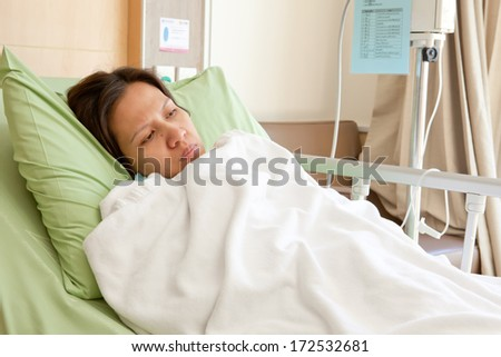 Women patients in hospital - stock photo