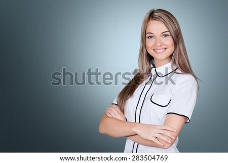 Women, People, Smiling. - stock photo