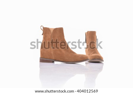Women's autumn ankle boots, isolated - stock photo