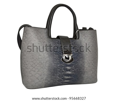 Women's bag isolated on a white background
