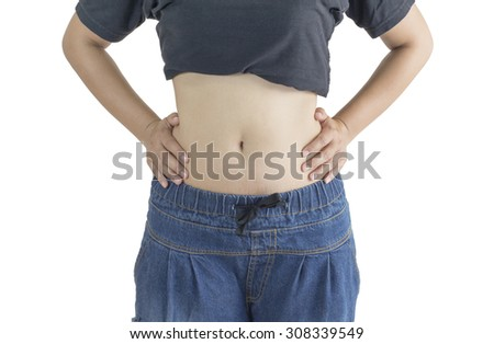 Women's belly No.3 - stock photo