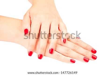 women's hands and feet on a white veil