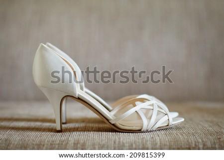 Women's high heel shoes luxury fashion footwear - stock photo