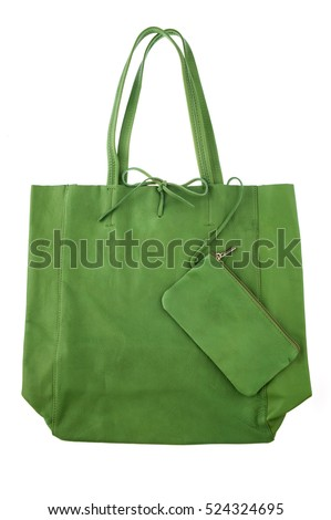 women's leather bag green