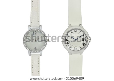 Women's leather watches - stock photo