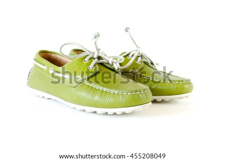 women's modern style moccasin - stock photo