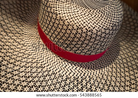 women's panama hat closeup in Ecuador