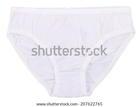 Women's panties isolated on a white background. Clipping paths included.