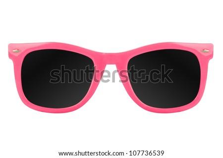 Women's pink sunglasses - stock photo