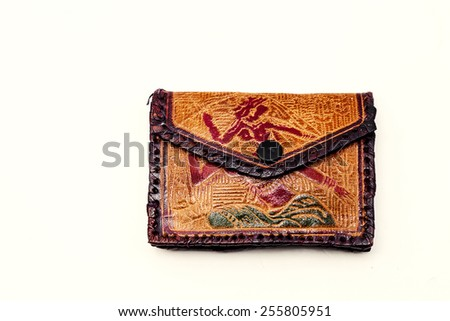 Women's purse on a white background. ethnic style