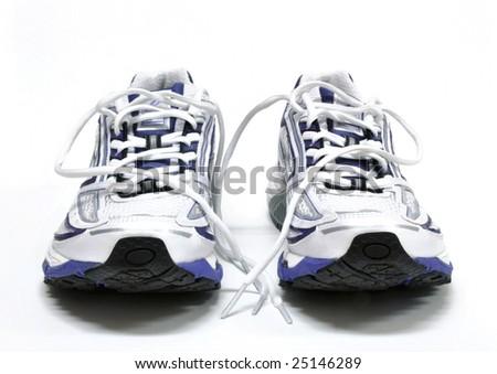 Women's running shoes - stock photo