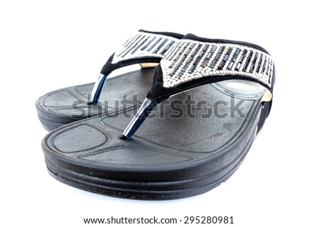 Women's shoe on a white background.